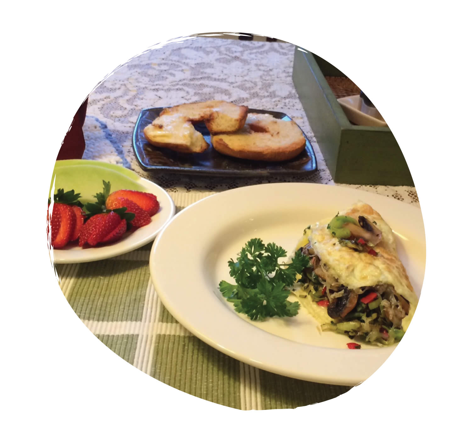 Breakfast Omelet at Sky Story Bed & Breakfast