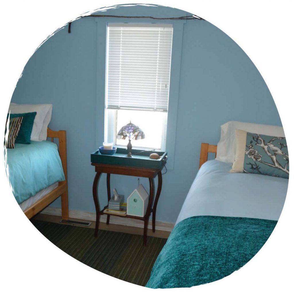 The Sky Room at Sky Story Bed & Breakfast near Grasslands National Park
